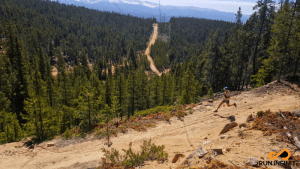 Running Down Powerline on the Leadville 100 Course
