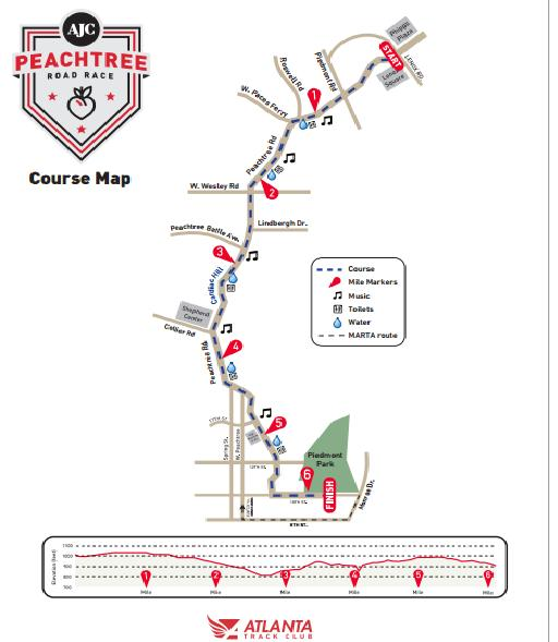 AJC Peachtree 10K Road Race 2016/2017 - Date, Registration