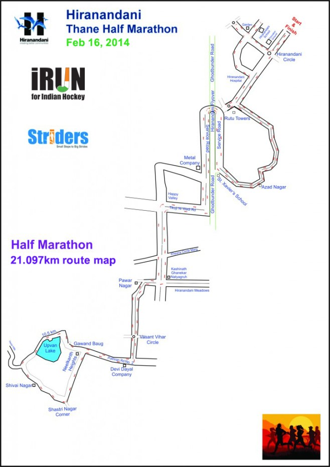 Thane-Half-Marathon-map