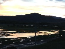sunset on our first night in the Mongolian country