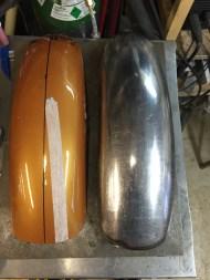 garde boue en acier pour BMW R80 scrambler, fabrication Run Iron Works