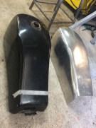 réservoir tôle d'aluminium HARLEY DAVIDSON by run iron works avec son modèle originale pour une pièce custom