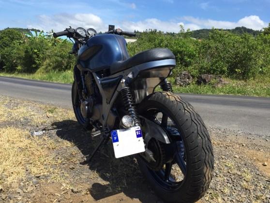 Honda cb 500 a2 by run iron works preparation transformation moto réunion