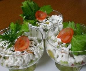 Коктейль салат с сельдереем и миндалем