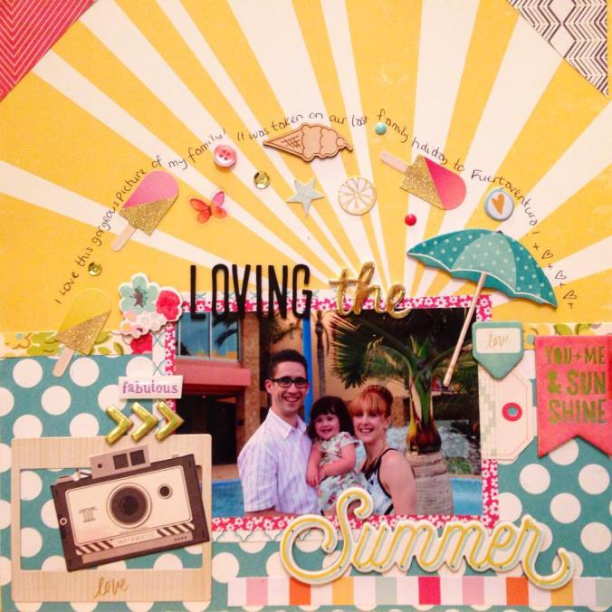 No #blogging = more #scrapbooking using my #hipkitclub #scrapbook supplies! #summer #holiday #family #thickers #americancrafts #scrapbook #scrapbookpage #scrapbooklayout #hobby #crafts #mblogger