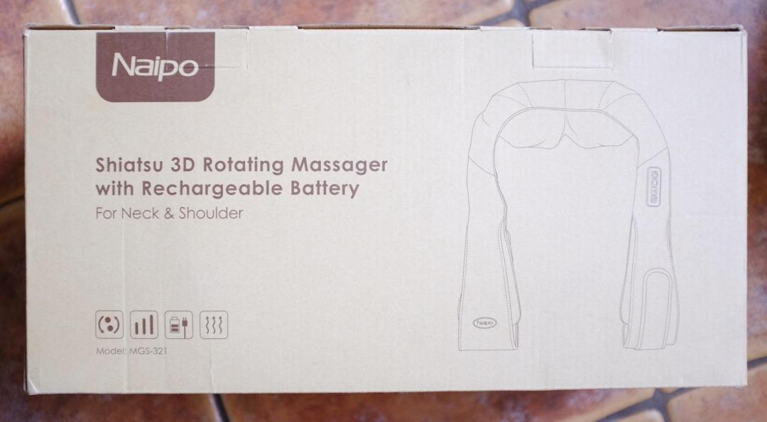 Naipo Shiatsu Neck & Shoulder Massager in the box