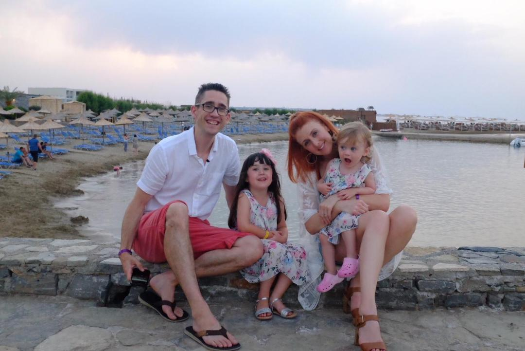 family on holiday in Crete - nana beach resort