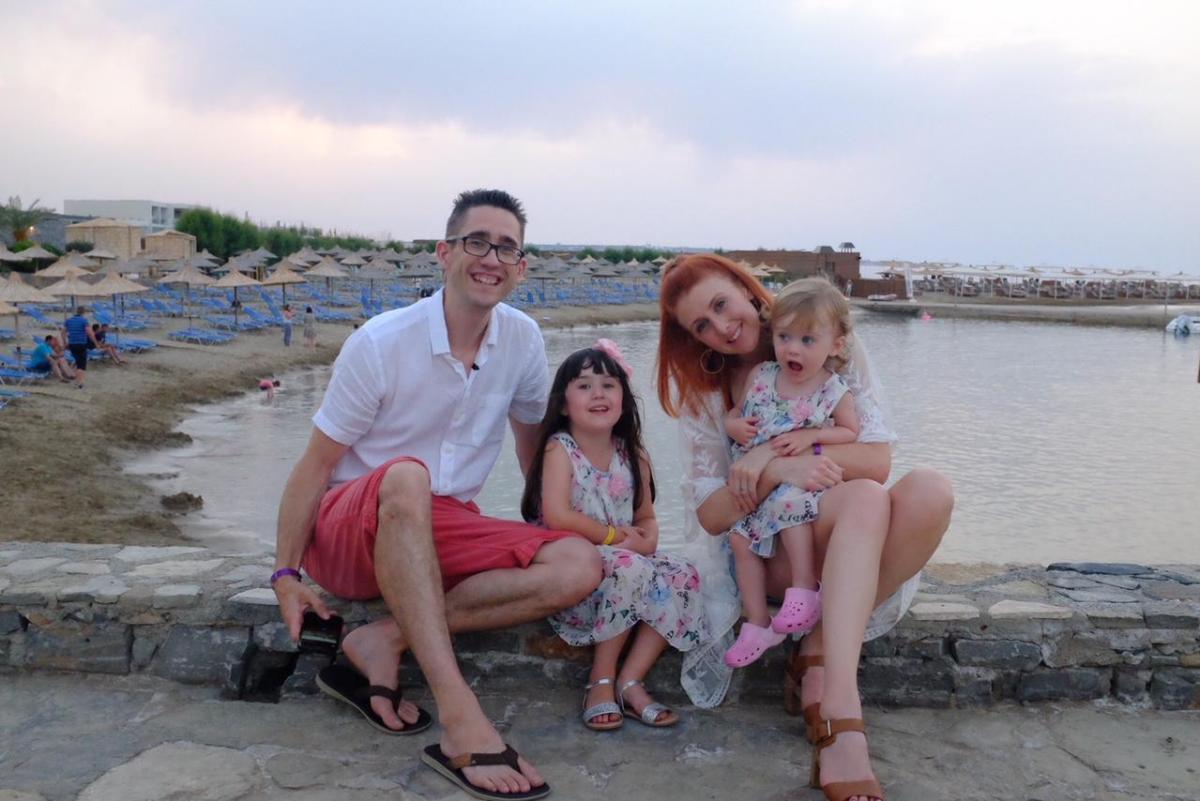 family on holiday in Crete - nana beach resort