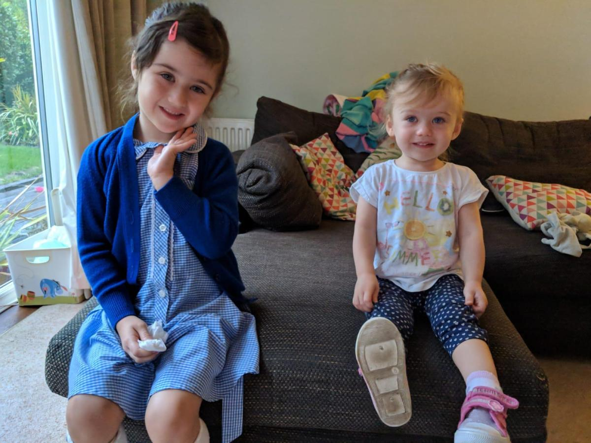 girls ready for school and nursery