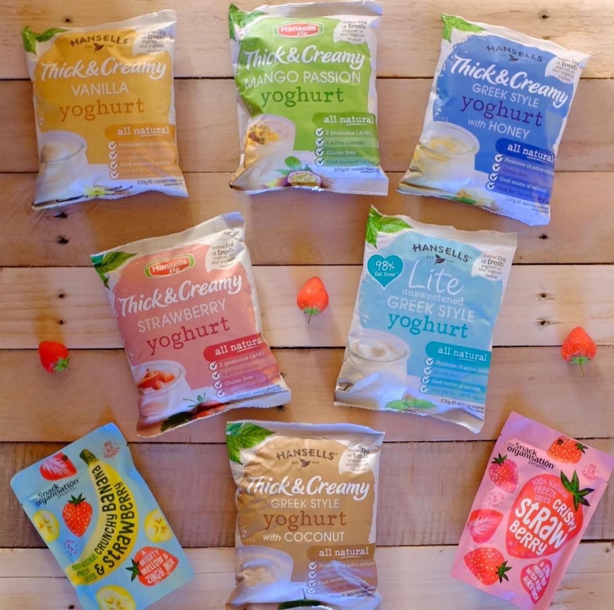 Hansell yoghurt packs
