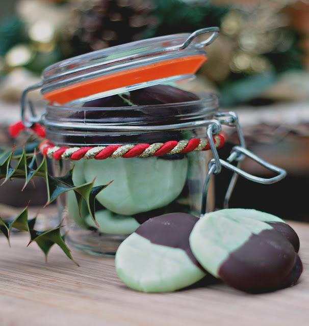 chocolate dipped peppermint creams