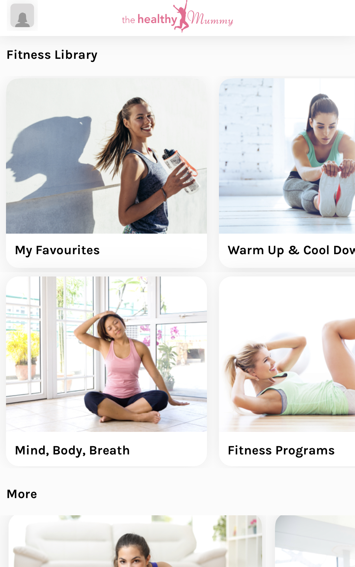 Healthy Mummy App fitness screenshot