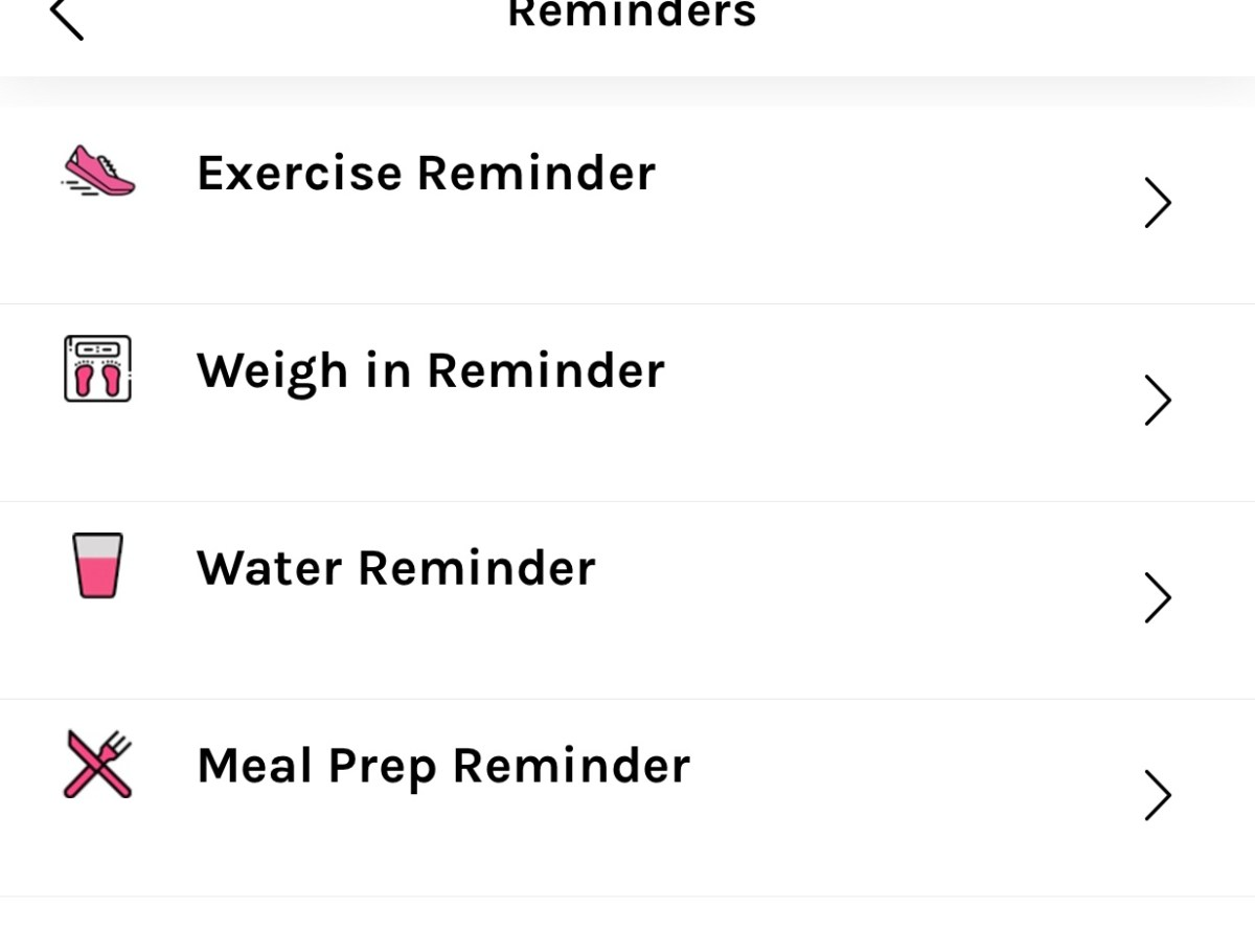 healthy mummy app reminder screenshot