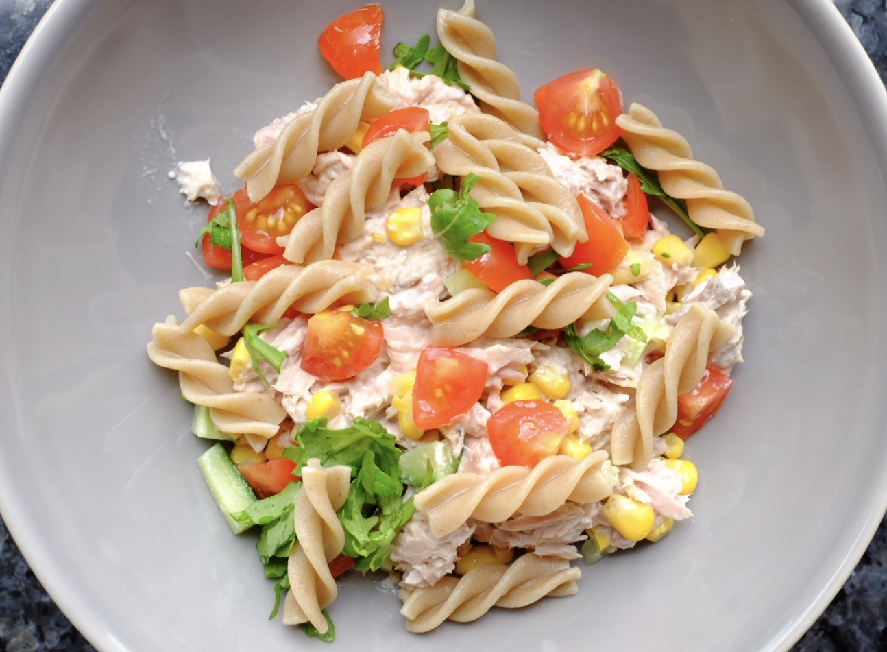 tuna pasta salad healthy lunch time meal for kids