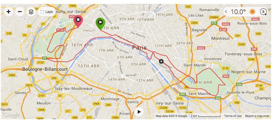 paris marathon map