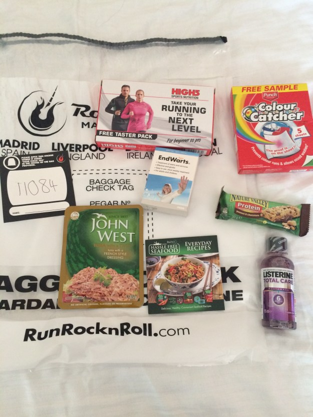 Swag Bag Contents Dublin RnR