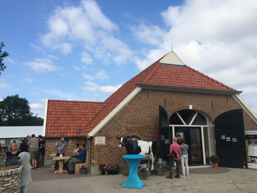 grand opening of the new dairy farm shop