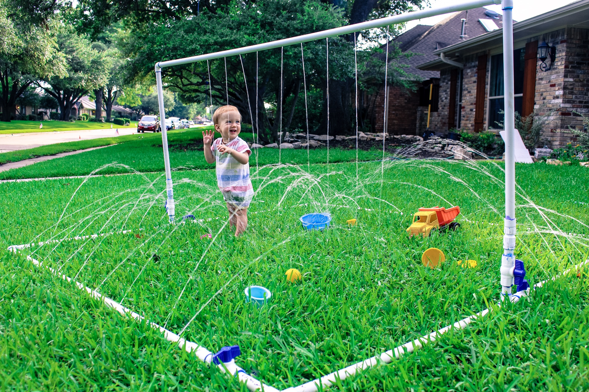 Diy Pvc Pipe Splash Pad Run Like Kale