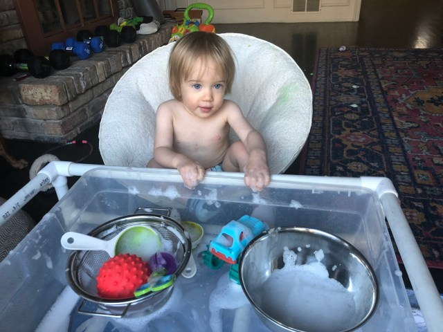 foamy sensory play