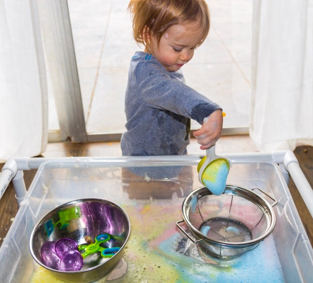good clean sensory play