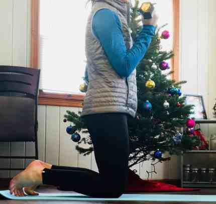 Christmas Workout Dumbbell Curls