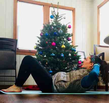 Christmas Workout Crunches