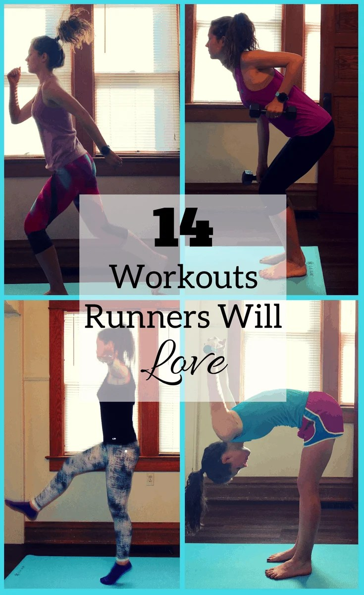 14 FREE Workouts that Runners will Love! A combination of strength workouts, ab workouts, yoga,and speed workouts for runners. All workouts can be completed at home and are completely free!
