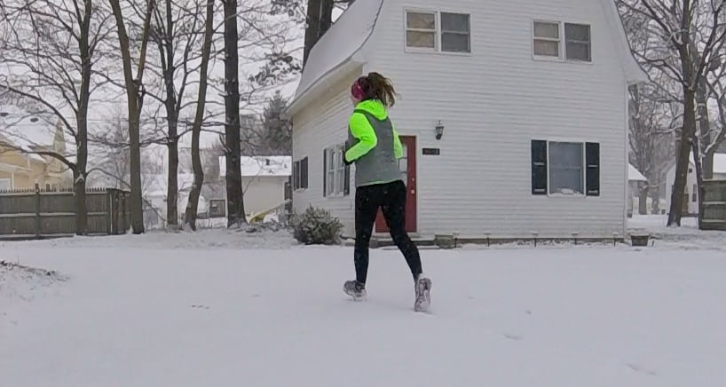 February training for a 25k brought lots of snow and indoor workout plans.