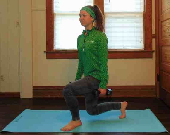 St. Patrick's Day Lucky 7s Full Body Dumbbell Workout: Curtsy Squats