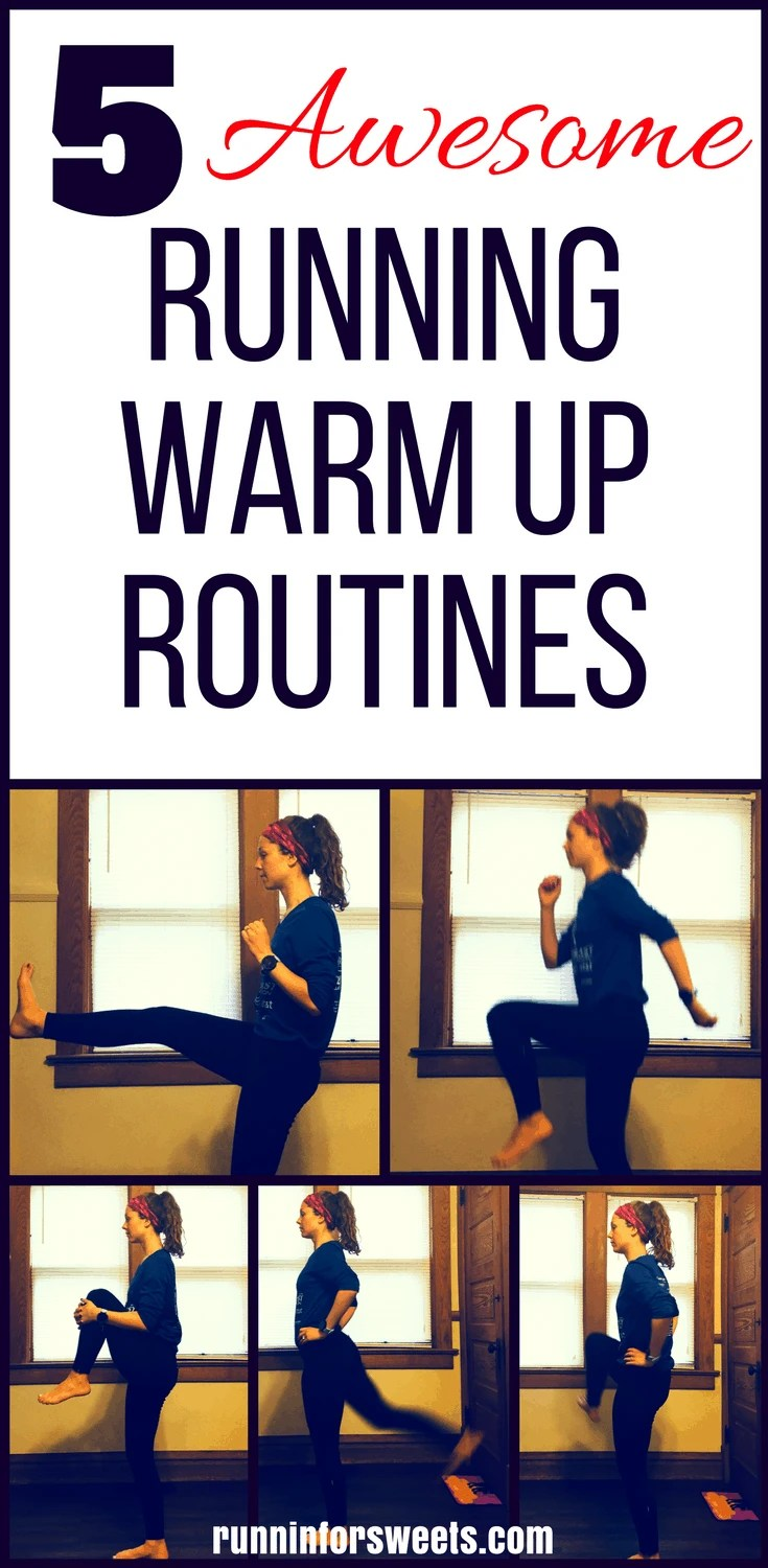 These 5 awesome running warm up routines will help you stay injury free this training season. These warm up exercises for runners incorporate dynamic stretching and quick exercises for the ultimate 5 minute pre run warm up. Stay healthy and achieve your goals this training season without spending a ton of time on a running warm up!