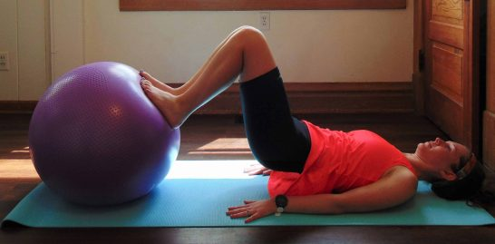 This fun stability ball workout combines all of the best total body stability ball exercises to give you the ultimate at home workout. Great strength training that targets your core and abs, plus arms, legs and glutes. You can't go wrong with the fitness exercises in this full body stability workout! #stabilityballworkout #stabilityballexercises #fullbodyworkout