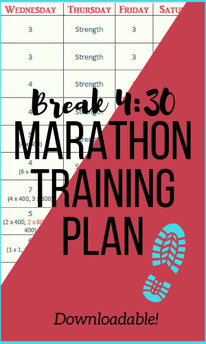 Finally run that sub 4:30 marathon with this training plan. Break 4:30 with ease!