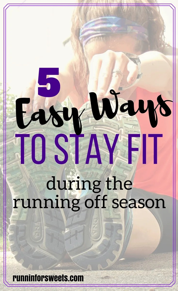 Staying fit during a break from running is actually easier than most runners think. Whether your were forced to take time off from running or chose to, here is what you need to know to stay in shape while not running. Make the most our of your running off season with the truth about your break from running. #runningoffseason #breakfromrunning #stayfit