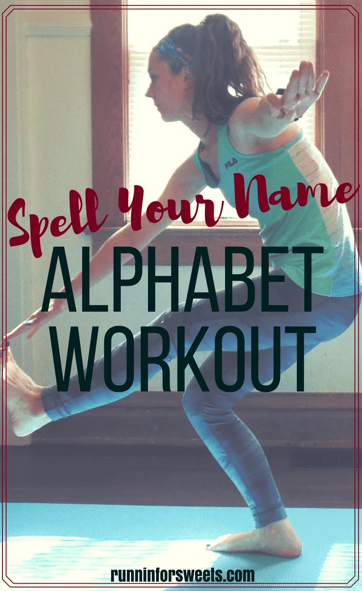 The ultimate alphabet workout with exercises for every letter! Spell your name or complete the entire alphabet workout challenge. It's fun, no equipment is required, and a great at home cross training workout to burn fat and calories. Tone your muscles with this alphabet workout!
