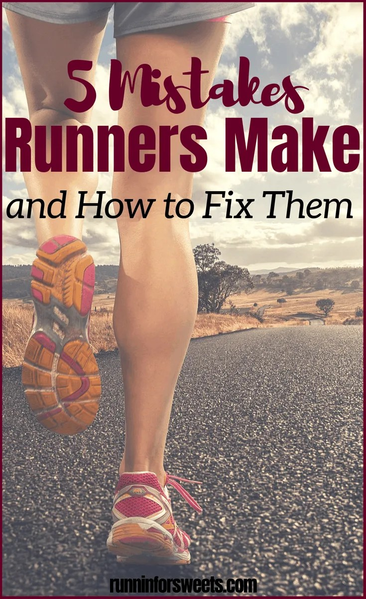 Beginner and pro runners alike are prone to making these 5 biggest running mistakes – and often without even realizing it! Here are some easy tips to avoid making these common running mistakes. Whether you're in the midst of marathon training or just trying to run consistently throughout life, these simple fixes will help you become a stronger runner. This article is a must read to avoid common running mistakes! #runningmistakes #beginnerrunner #runningtips #running