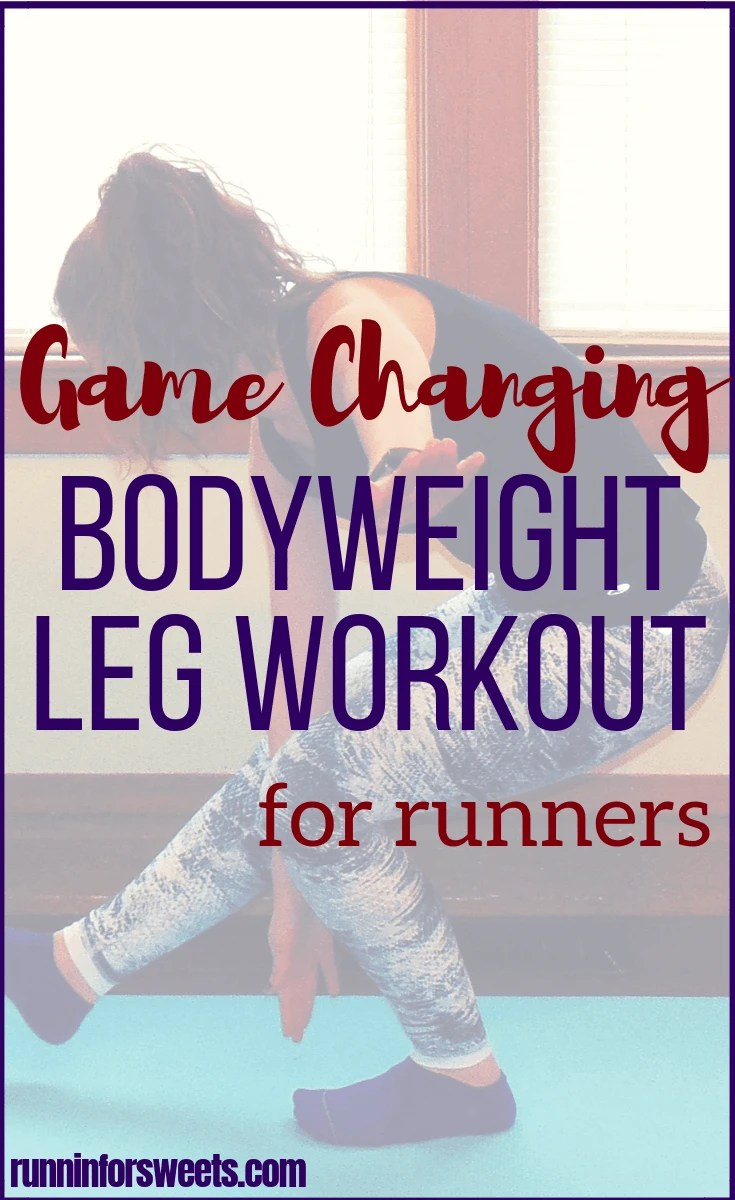 This 20 minute bodyweight leg workout requires no supplies and can be done in your living room. Slim your legs and build muscle for an ideal toning workout. For the ultimate strength gain and leg burn, try these moves! #legworkout #bodyweightworkout #crosstraining