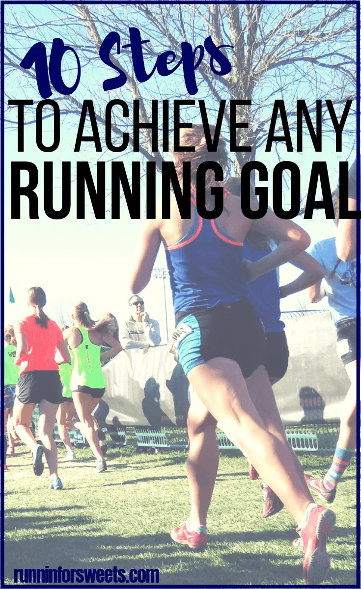 Setting running goals is an intimidating process. Luckily, you can set and achieve any running goals with this amazing method. No matter how far fetched your dreams feel, accomplish anything with goal setting method for runners. Plus tons of new running goal ideas! #runninggoals #goalsetting #runninggoalideas