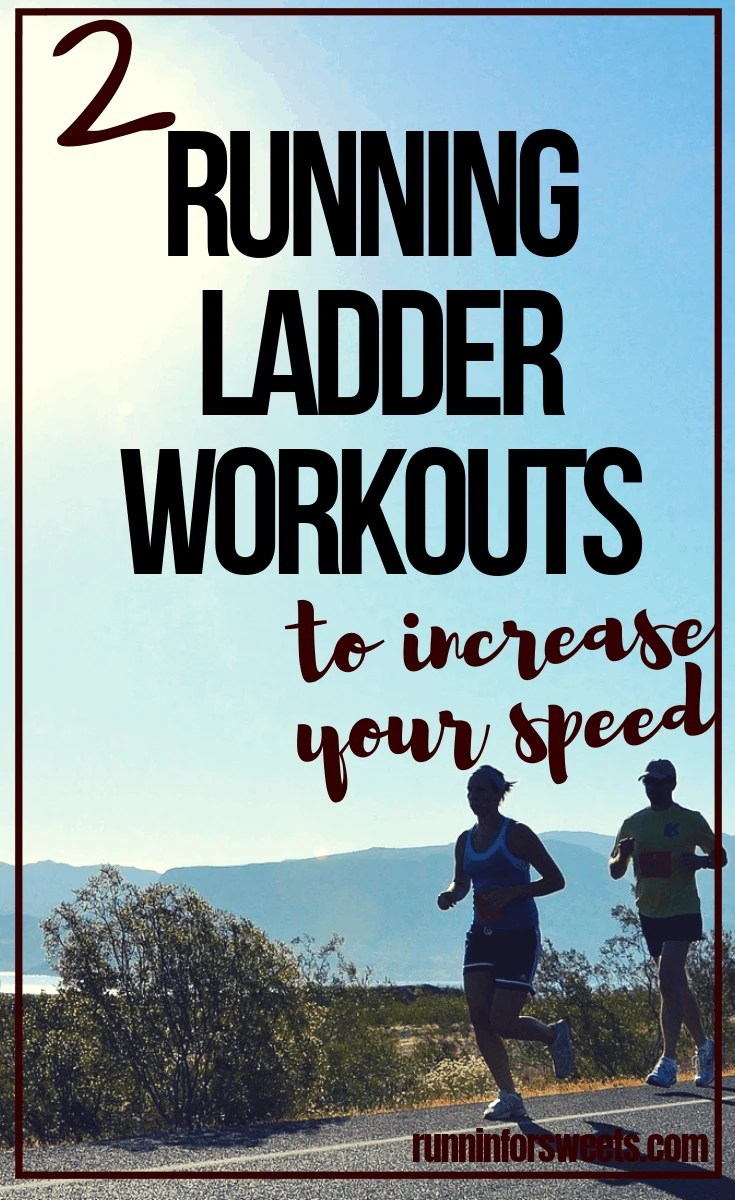 These running ladder workouts will help you quickly get faster and increase your speed. These running workouts can be completed outdoors, or on the track or treadmill. They are great for runners of any ability level – from beginners to elites. Check out these awesome ladder workouts! #runningworkouts #ladderdrills #ladderworkouts