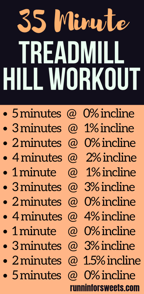 This 35 minute treadmill workout uses incline to create various hills and quickly increase your speed and strength. This powerful treadmill hill workout is a great way to incorporate interval training into your running plan! Great for beginners and pros alike. Enhance your running training routine with this epic treadmill workout! #treadmillworkout #hillrunning #hillworkout #intervaltraining