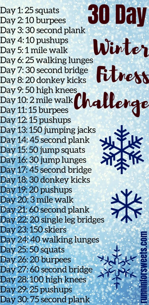 This winter fitness challenge is the ultimate way to stay motivated and in shape this season. Download this free, printable 30 day fitness challenge for your full body! Find the winter fitness motivation you need by challenging yourself to stay accountable each day. #winterfitnesschallenge #winterfitness #fitnesschallenge
