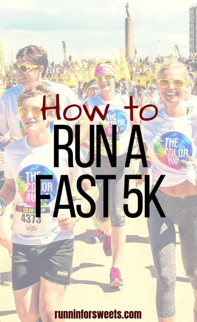 Running a 5k is a challenging feat. Many runners set a goal to improve their 5k time and get faster. These 4 foolproof tips will help you run a fast 5k and increase your speed for that PR in no time! #5ktraining #5ktrainingtips #faster5k