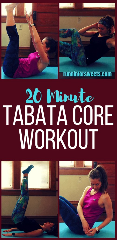 This 20 Minute Tabata Core Workout is an epic fat burning, low impact workout. Complete these ab exercises in Tabata training style to gain maximum core strength right at home. This no equipment workout combines various core HIIT exercises for the ultimate flat belly workout! #tabataworkout #tabatacoreworkout #coreworkout #tabatatraining