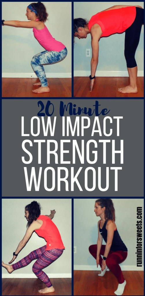 Try this epic 20 minute low impact workout for full body strength! These low impact exercises are perfect for a full body at home workout without risking injury or pain. Try this workout during pregnancy, when recovering from injury, or coping with arthritis and bad knees. #lowimpactworkout #lowimpactexercises #fullbodyworkout #athomeworkout