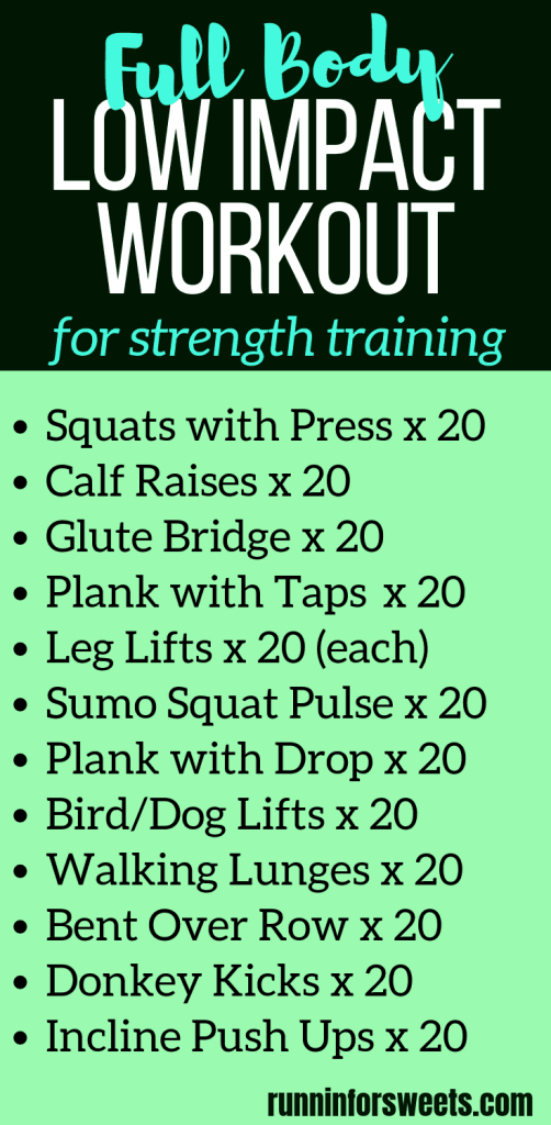 20 Minute Low Impact Workout For Full Body Strength