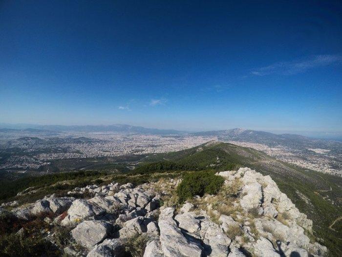 Υμηττός βουνό θέα βράχια