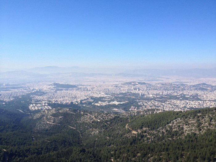 Διαδρομές για Τρέξιμο - Υμηττός βουνό θέα Αθήνα