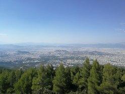 Υμηττός βουνό θέα Αθήνα