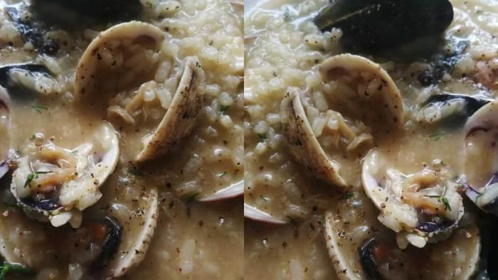 Συνταγή ριζότο με θαλασσινά όστρακα | Γυαλιστερές κυδώνια μύδια