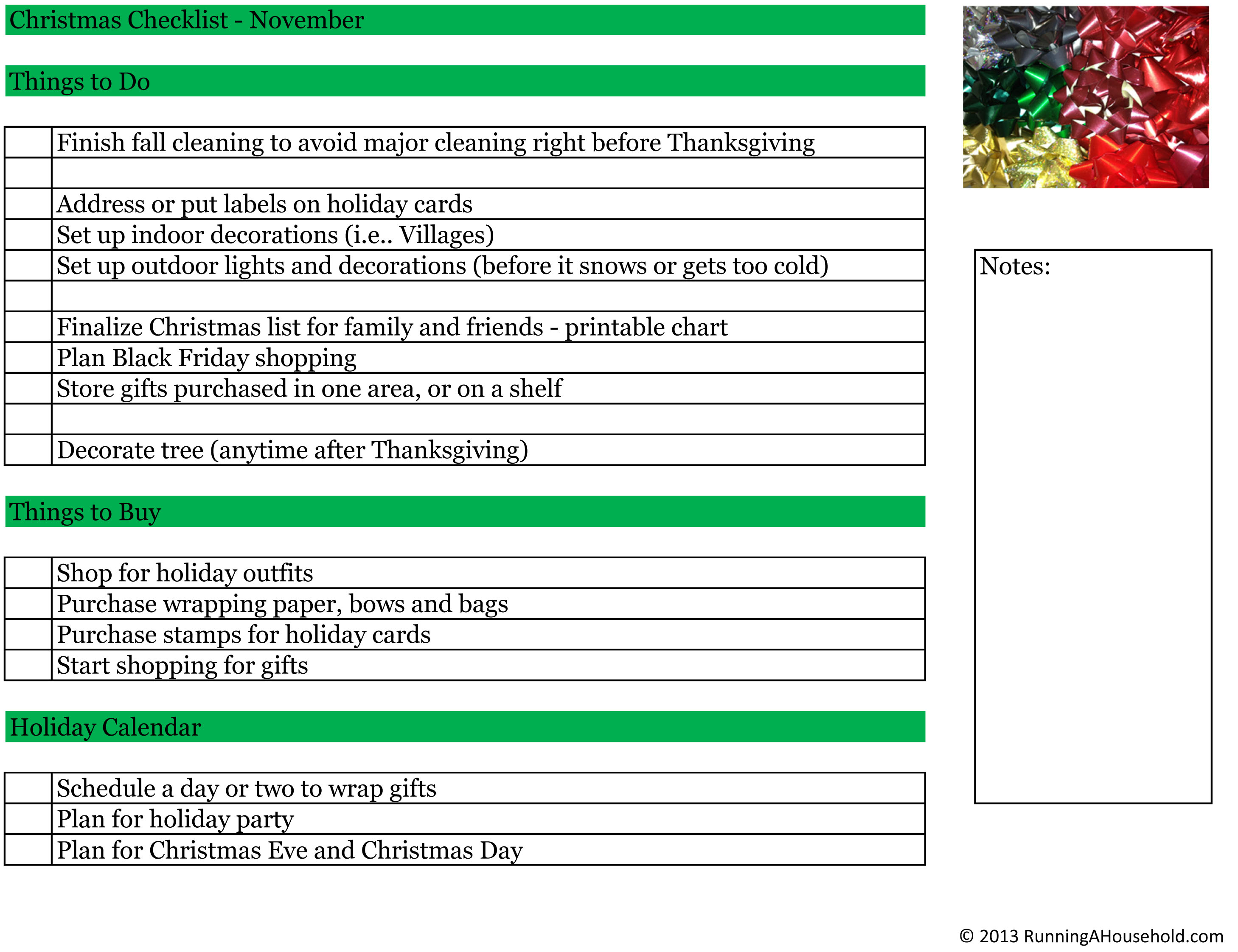 Planning Family Christmas Party