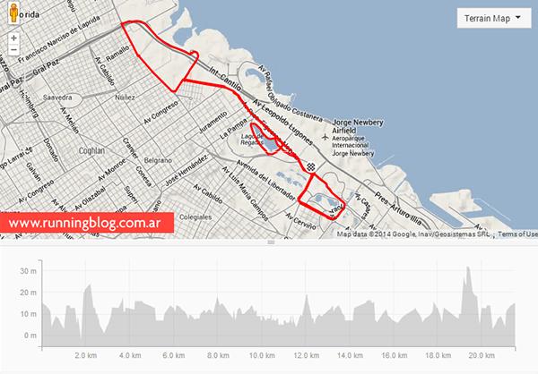 Nike We Run 21K 2014   Strava Route
